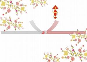 小花かわいい熨斗