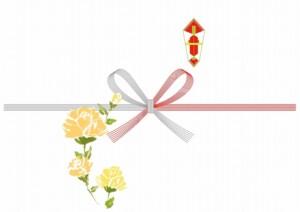 黄色いバラ熨斗